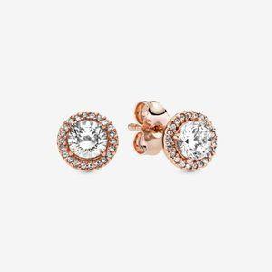 Pandora Round Sparkle Halo Stud Earrings
